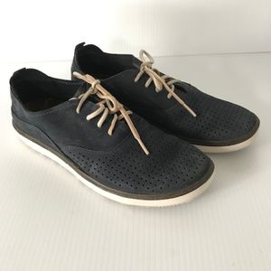 MERRELL Navy Blue Leather Lace Up Oxford Sneakers